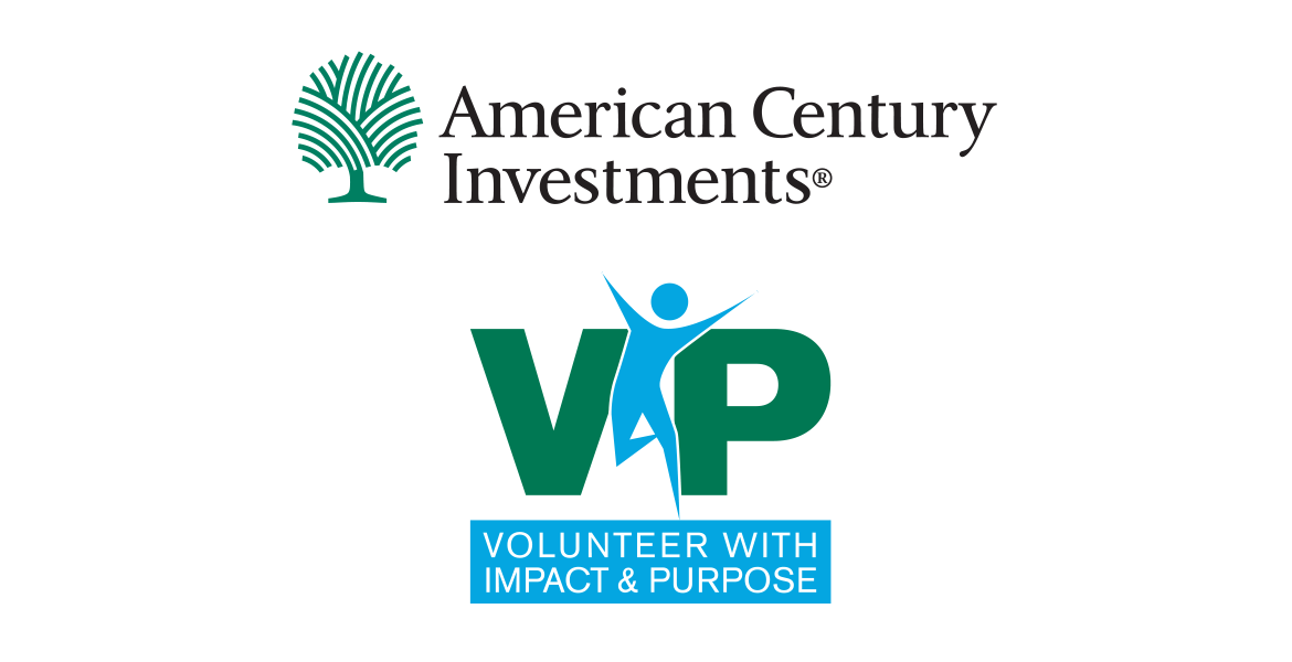 American Century Investments VIP Volunteer With Impact & Purpose logo