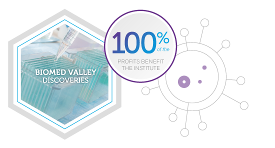 Biomed Valley Discoveries: 100% of the profits benefit the institute