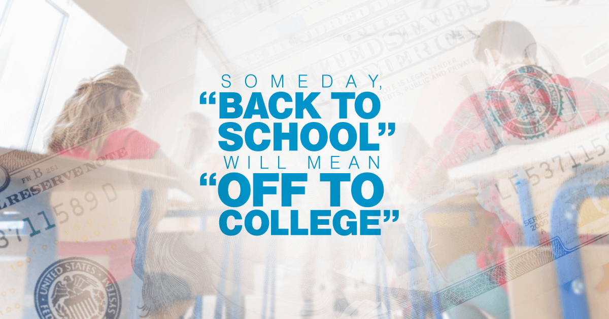 Your kid is one first day of school closer to the last day of high school. Saving for college now may help offset the burden of student debt.